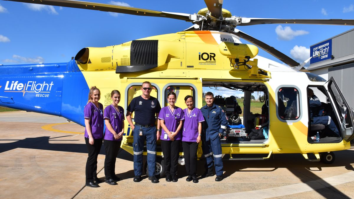 Observational Placement Program Participants At Lifeflight7
